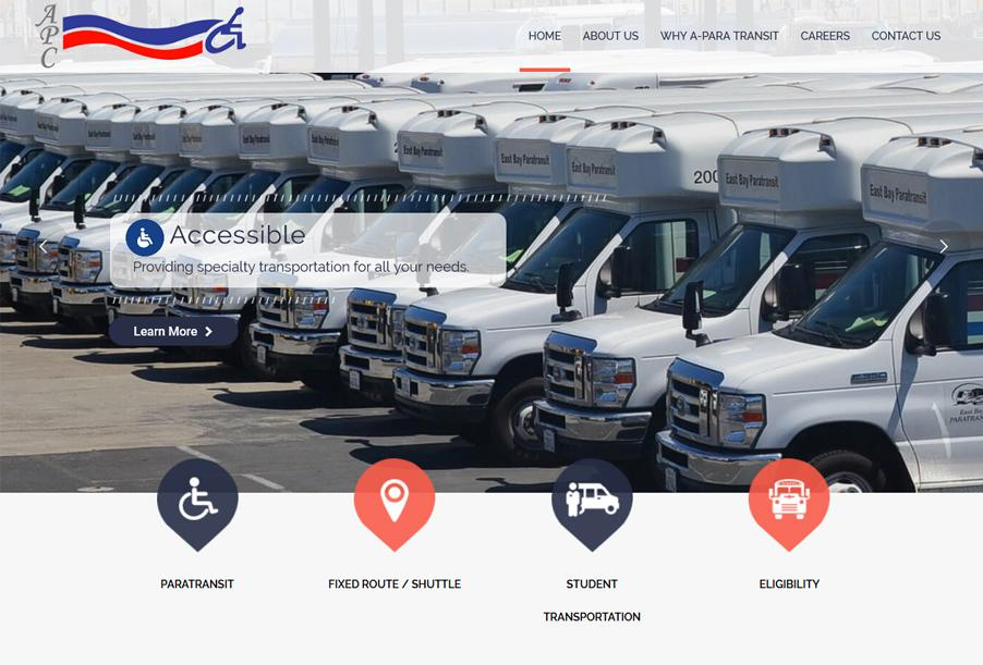 Aparatransit CA Hayward, USA, Transport Website Design